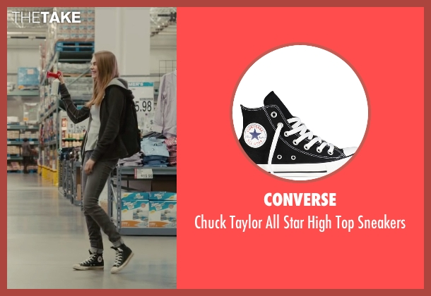 Converse black sneakers from Paper Towns seen with Cara Delevingne (Margo Roth Spiegelman)