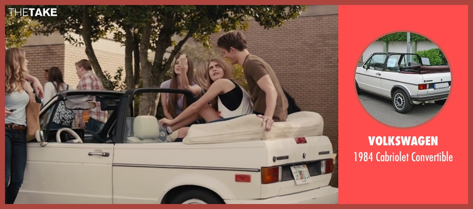 Volkswagen convertible from Paper Towns seen with Cara Delevingne (Margo Roth Spiegelman)