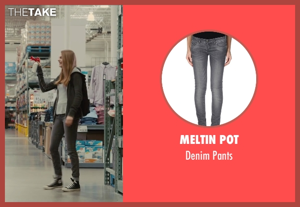 Meltin Pot gray pants from Paper Towns seen with Cara Delevingne (Margo Roth Spiegelman)