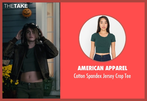 American Apparel green tee from Paper Towns seen with Cara Delevingne (Margo Roth Spiegelman)