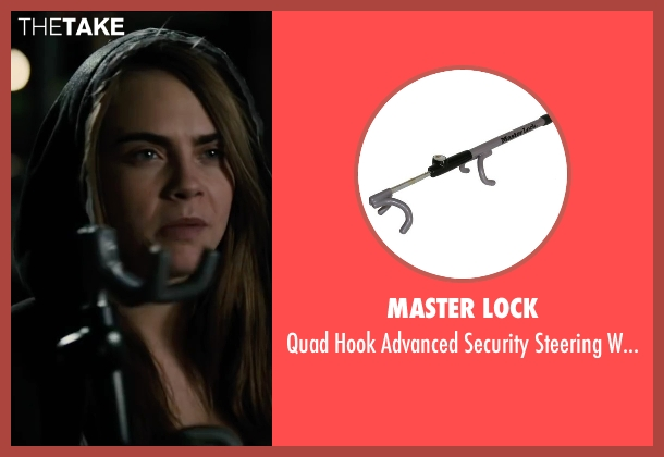 Master Lock lock from Paper Towns seen with Cara Delevingne (Margo Roth Spiegelman)