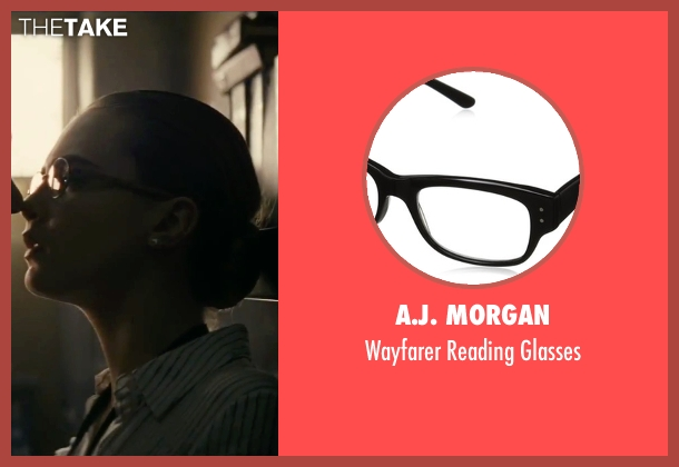 A.J. Morgan black glasses from Suicide Squad seen with Cara Delevingne (Enchantress)