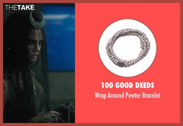 100 Good Deeds bracelet from Suicide Squad seen with Cara Delevingne (Enchantress)