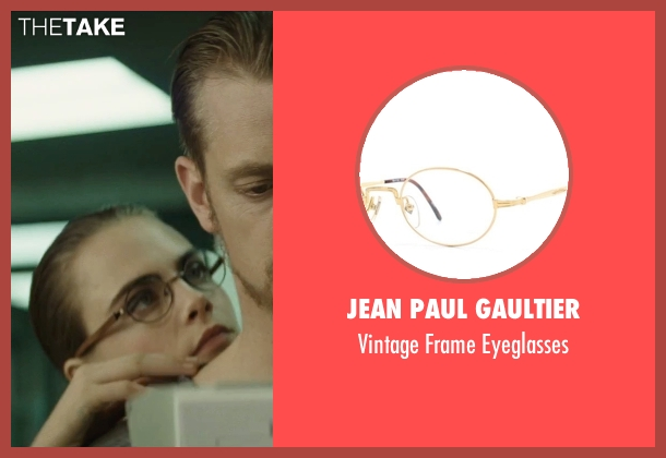 Jean Paul Gaultier eyeglasses from Suicide Squad seen with Cara Delevingne (Enchantress)