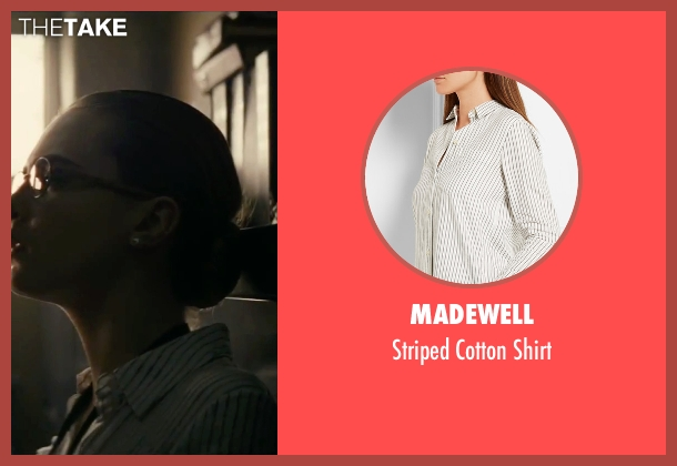Madewell white shirt from Suicide Squad seen with Cara Delevingne (Enchantress)