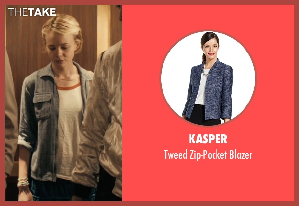 Kasper blue blazer from Drive seen with Carey Mulligan (Irene)