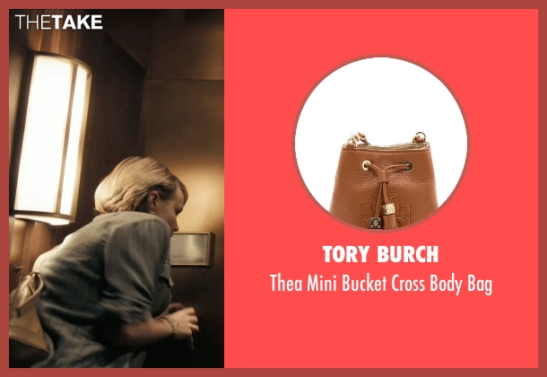 Tory Burch brown bag from Drive seen with Carey Mulligan (Irene)