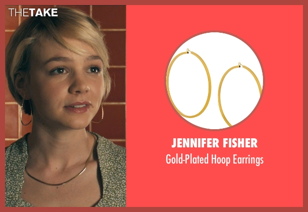 Jennifer Fisher gold earrings from Drive seen with Carey Mulligan (Irene)