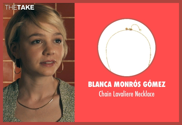 Blanca Monrós Gómez gold necklace from Drive seen with Carey Mulligan (Irene)