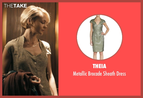 Theia green dress from Drive seen with Carey Mulligan (Irene)
