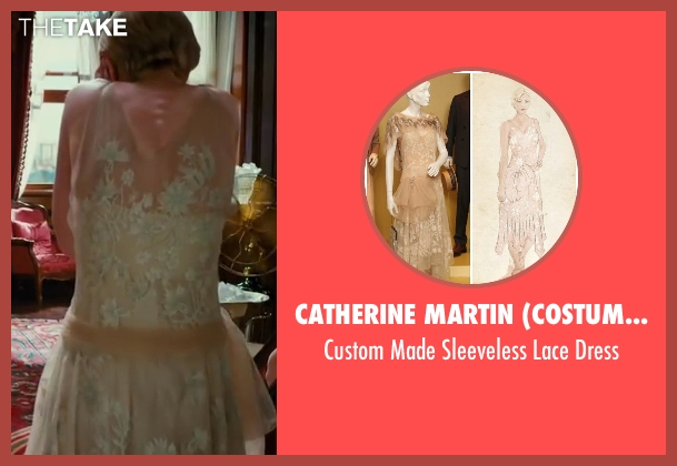 Catherine Martin (Costume Designer) beige dress from The Great Gatsby seen with Carey Mulligan (Daisy Buchanan)