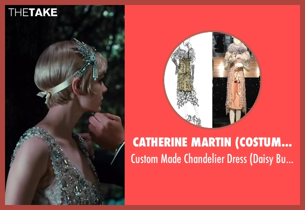 Catherine Martin (Costume Designer) & Miuccia Prada (Fashion Designer) beige dress from The Great Gatsby seen with Carey Mulligan (Daisy Buchanan)
