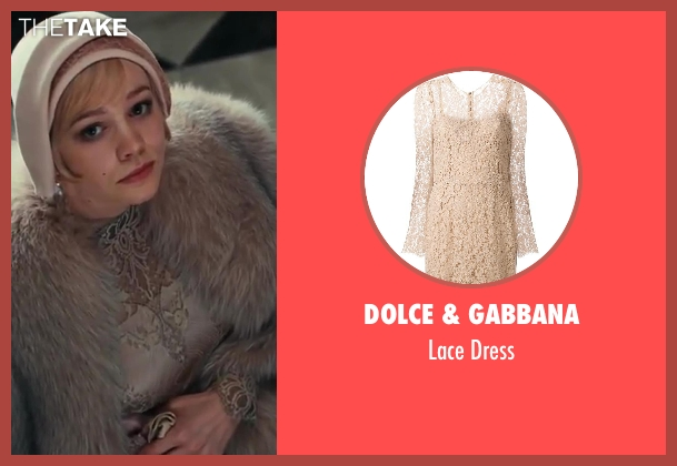 Dolce & Gabbana beige dress from The Great Gatsby seen with Carey Mulligan (Daisy Buchanan)