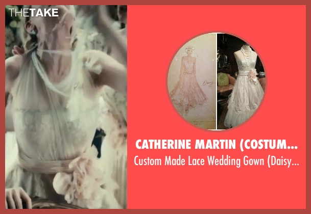 Catherine Martin (Costume Designer) beige gown from The Great Gatsby seen with Carey Mulligan (Daisy Buchanan)