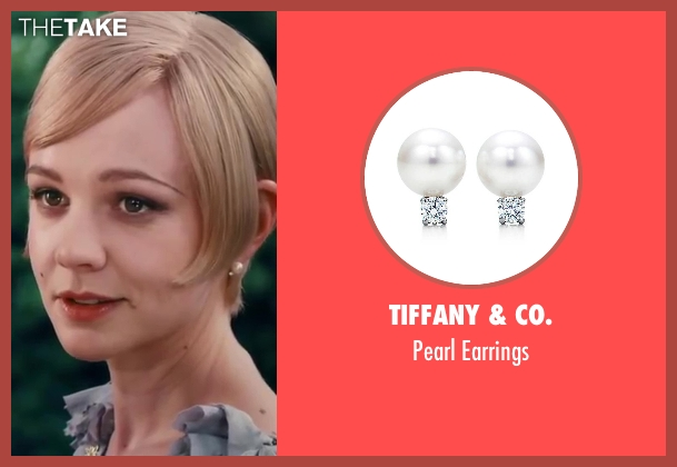 Tiffany & Co. earrings from The Great Gatsby seen with Carey Mulligan (Daisy Buchanan)