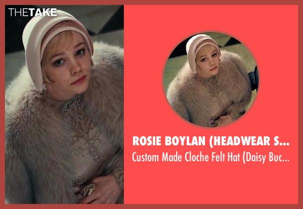Rosie Boylan (Headwear Specialist) hat from The Great Gatsby seen with Carey Mulligan (Daisy Buchanan)
