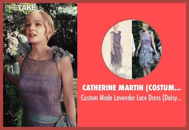 Catherine Martin (Costume Designer) pink dress from The Great Gatsby seen with Carey Mulligan (Daisy Buchanan)