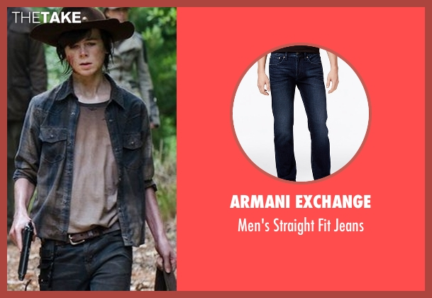 Armani Exchange  blue jeans from The Walking Dead seen with Carl Grimes (Chandler Riggs)