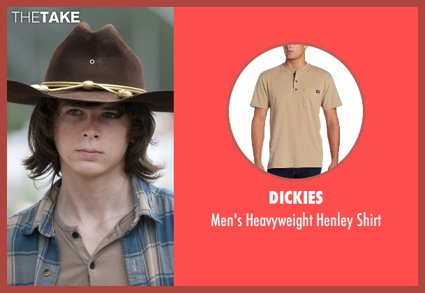 Dickies brown shirt from The Walking Dead seen with Carl Grimes (Chandler Riggs)