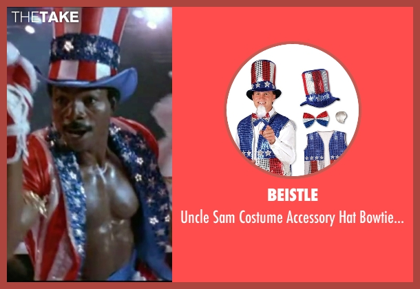Beistle set from Rocky IV seen with Carl Weathers (Apollo Creed)