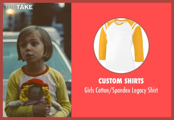 Custom Shirts yellow shirt from Trainwreck seen with Carla Oudin (Five Year Old Kim)