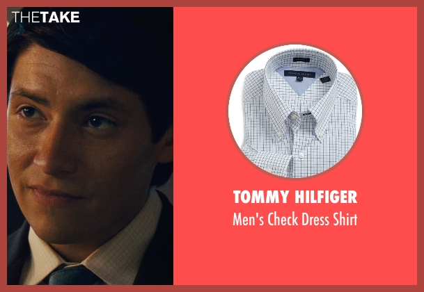 Tommy Hilfiger blue shirt from McFarland, USA seen with Carlos Pratts (Thomas)