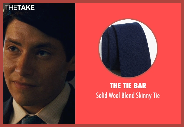 The Tie Bar blue tie from McFarland, USA seen with Carlos Pratts (Thomas)