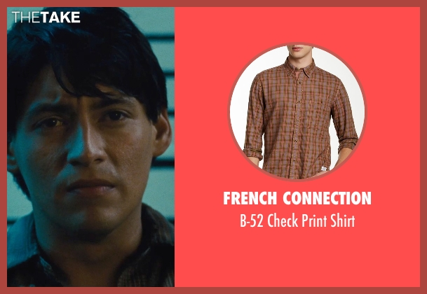 French Connection brown shirt from McFarland, USA seen with Carlos Pratts (Thomas)