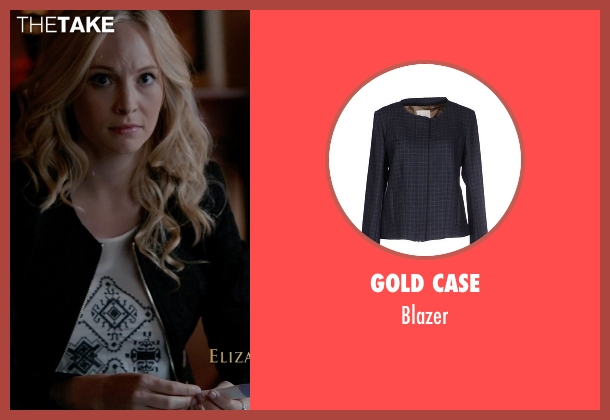 Gold Case black blazer from The Vampire Diaries seen with Caroline Forbes (Candice Accola)