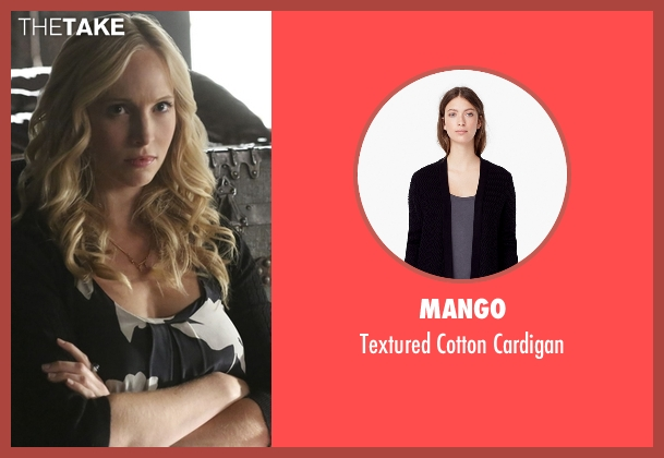 Mango black cardigan from The Vampire Diaries seen with Caroline Forbes (Candice Accola)
