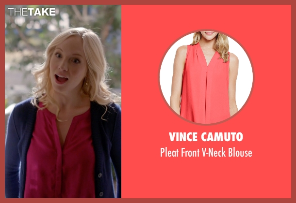 Vince Camuto pink blouse from The Vampire Diaries seen with Caroline Forbes (Candice Accola)