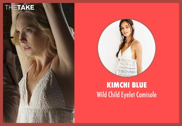 Kimchi Blue white camisole from The Vampire Diaries seen with Caroline Forbes (Candice Accola)