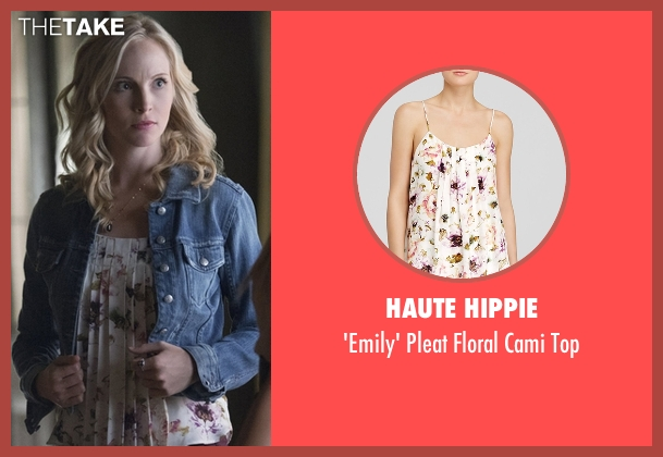 Haute Hippie white top from The Vampire Diaries seen with Caroline Forbes (Candice Accola)