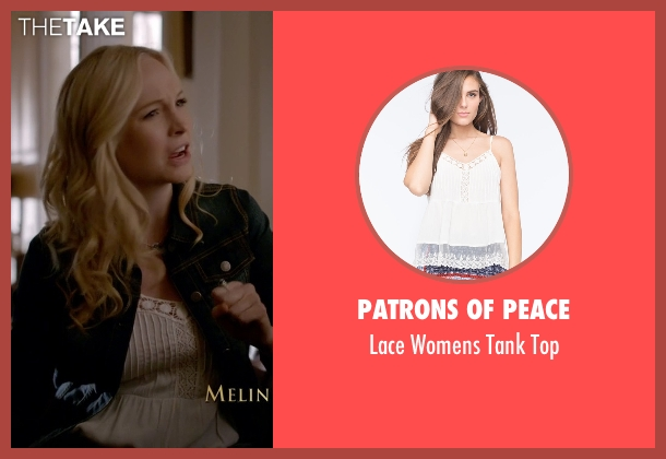 Patrons Of Peace white top from The Vampire Diaries seen with Caroline Forbes (Candice Accola)