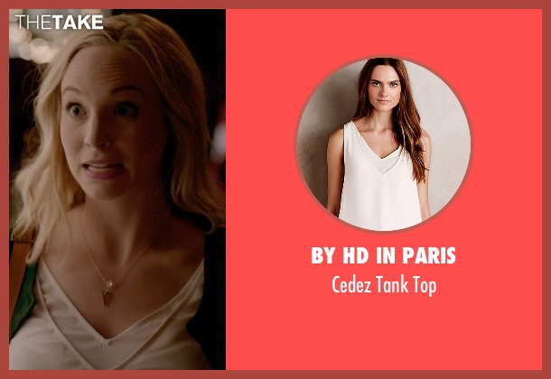 By Hd In Paris white top from The Vampire Diaries seen with Caroline Forbes (Candice Accola)