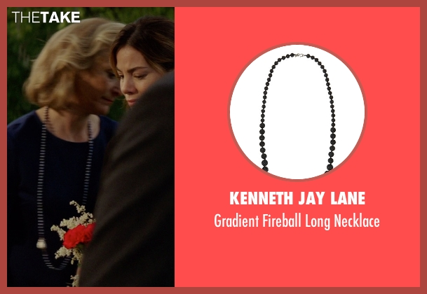 Kenneth Jay Lane black necklace from The Best of Me seen with Caroline Goodall (Evelyn Caster)