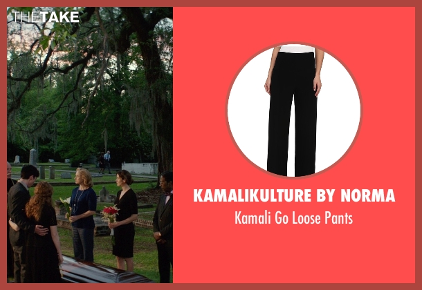 Kamalikulture By Norma black pants from The Best of Me seen with Caroline Goodall (Evelyn Caster)