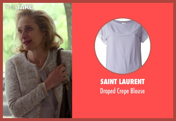Saint Laurent purple blouse from The Best of Me seen with Caroline Goodall (Evelyn Caster)