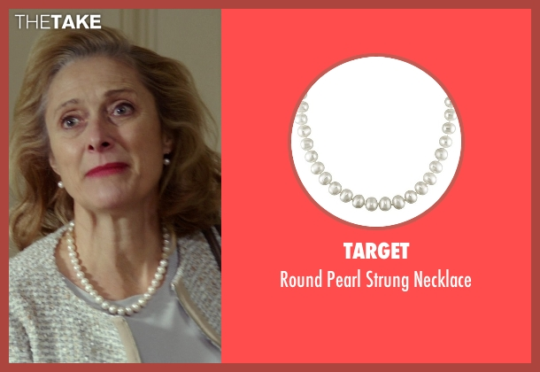 Target white necklace from The Best of Me seen with Caroline Goodall (Evelyn Caster)