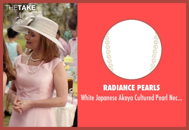 Radiance Pearls white necklace from The Best of Me seen with Caroline Goodall (Evelyn Caster)
