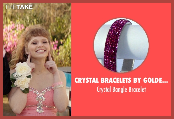 Crystal Bracelets by Golden India pink bracelet from The Best of Me seen with Caroline Hebert (Young April)