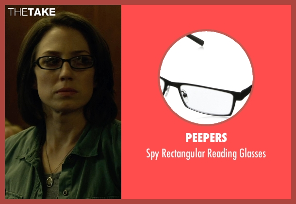 Peepers black glasses from Gone Girl seen with Carrie Coon (Margo Dunne)