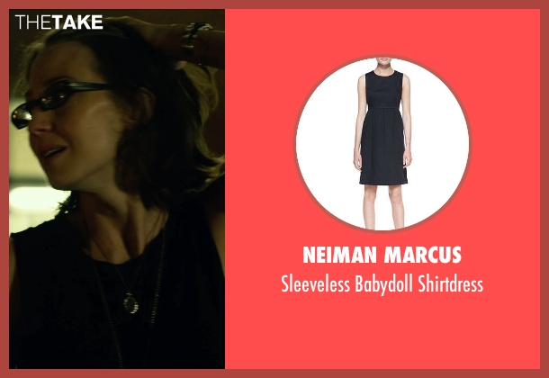 Neiman Marcus black shirtdress from Gone Girl seen with Carrie Coon (Margo Dunne)