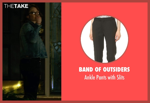 Band of Outsiders black slits from Gone Girl seen with Carrie Coon (Margo Dunne)