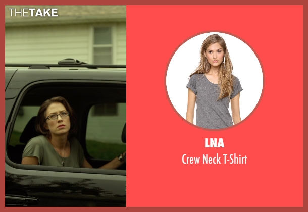 LNA gray t-shirt from Gone Girl seen with Carrie Coon (Margo Dunne)