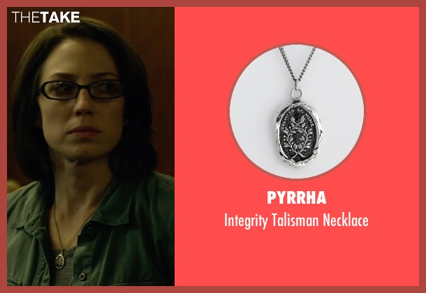 Pyrrha silver necklace from Gone Girl seen with Carrie Coon (Margo Dunne)