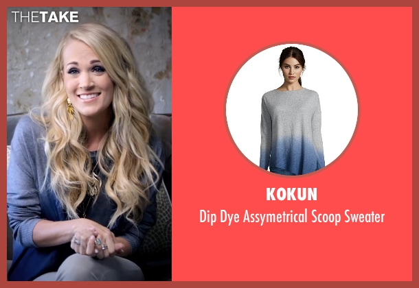 Kokun blue sweater from Popstar: Never Stop Never Stopping seen with Carrie Underwood