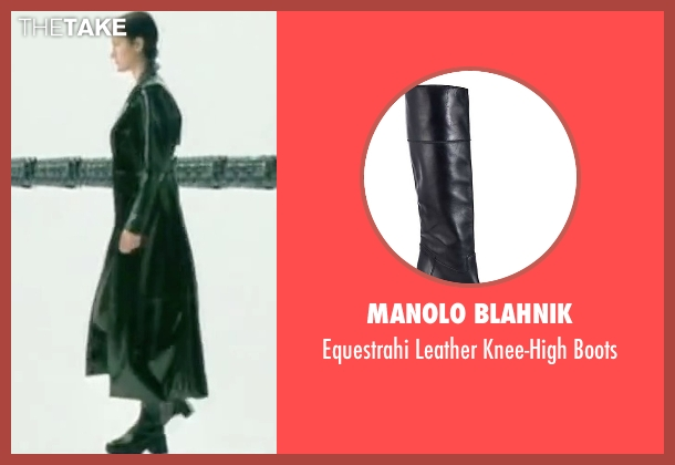 Manolo Blahnik black boots from The Matrix seen with Carrie-Anne Moss (Trinity)