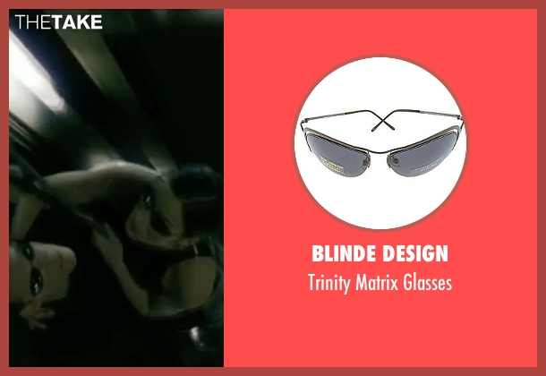 Blinde Design black glasses from The Matrix seen with Carrie-Anne Moss (Trinity)