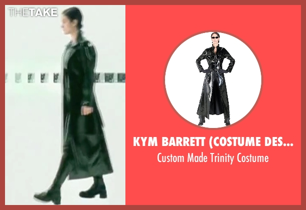 Kym Barrett (Costume Designer) costume from The Matrix seen with Carrie-Anne Moss (Trinity)